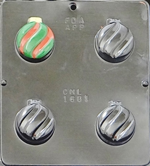 CML Ornament Cookie Chocolate Mold 1681