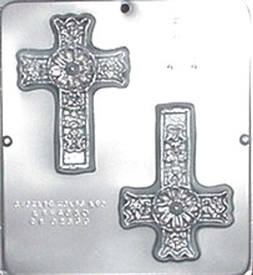 CML Ornate Cross Chocolate Mold 424