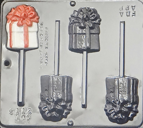 CML Wrapped Gift Pop Chocolate Mold 2113