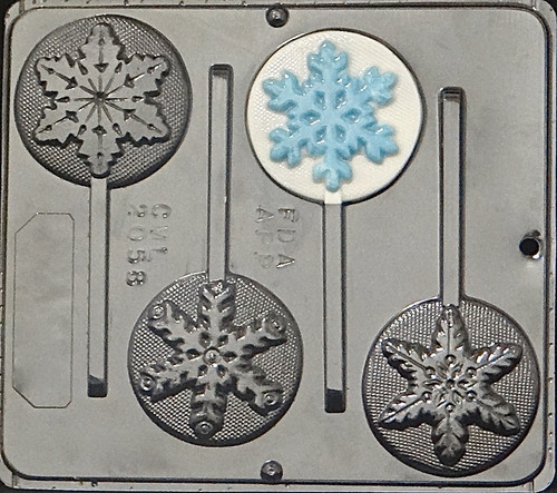 CML Snowflake Pop Chocolate Mold 2058