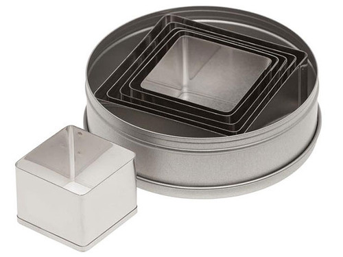 ATC 6pc Plain Square Set Cookie Cutter 5253