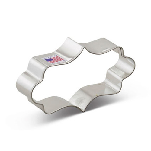 AC Long Fancy Plaque Cookie Cutter 7754A