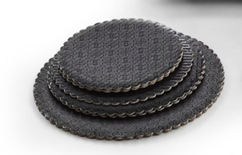 10in Black Scalloped Cake Circle
