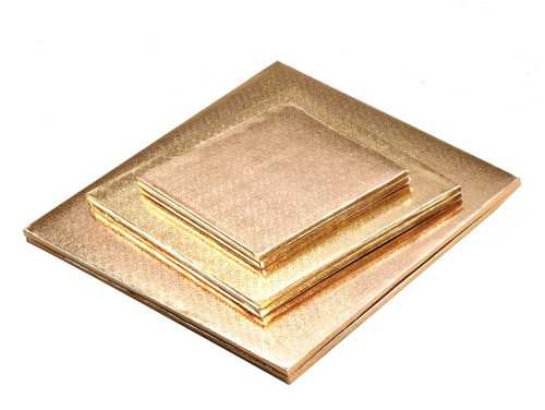 8in Gold HD Square Drum