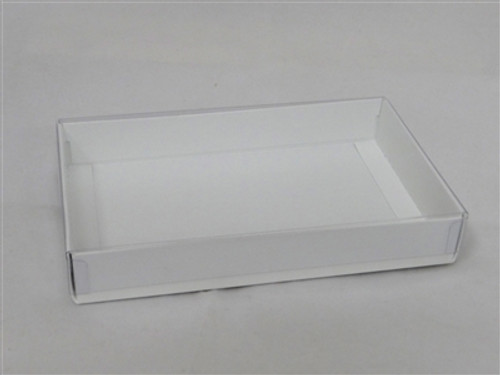 1/2lb White Candy Box with Clear Lid