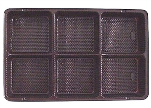 Brown Candy Tray Insert 6 Cavity