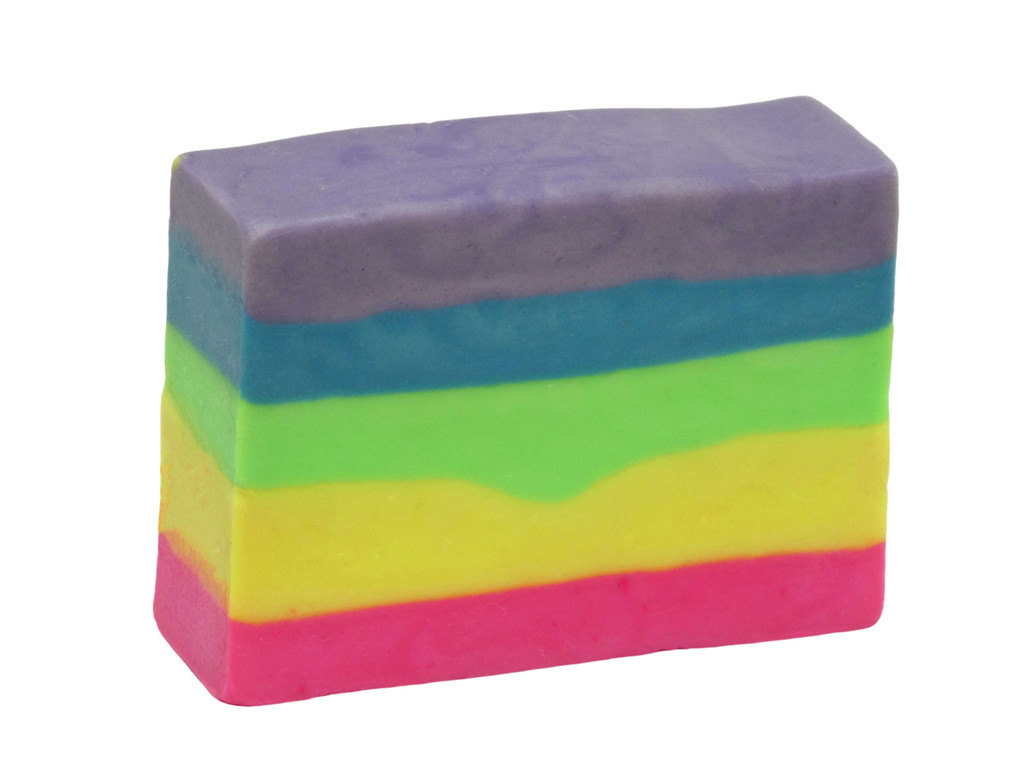 Bubblicious  Bubble Gum Soap, a favourite with the kiddies, this smells just like bubble gum. Brightly coloured this is sure to get them into the bath or shower and leave them clean and scenty.