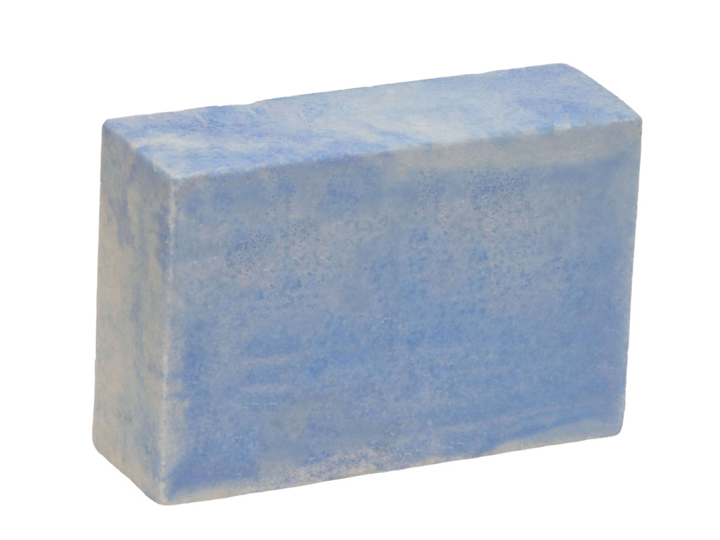 Blue Ice Sea Salt Soap , Australian Sea Salt is rich in minerals, including calcium, potassium, iron and sulphur and has been shown to be very beneficial for eczema and psoriasis sufferers. It is also exfoliating and leaves skin with a healthy even tone and feel. Coconut oil lathers in salt water. Organic Free Trade Shea Butter from Ghana provides rich moisturising qualities. Scented with an invigorating blend of Peppermint and Anise Essential Oils.