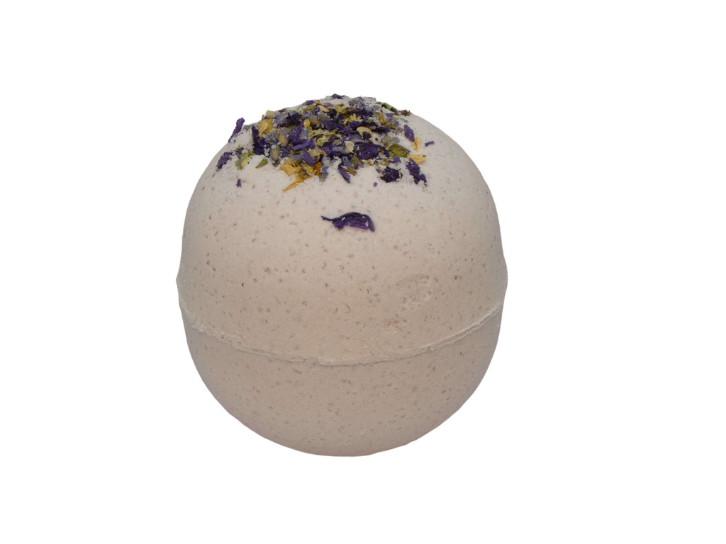 Bath Bomb Relax Round add a luxurious touch to your bath with our range of Aromatherapy Bath Bombs with added Sweet Almond Oil. Essential Oil Blend of Lavender, Patchouli, Oregano, Rose Geranium.