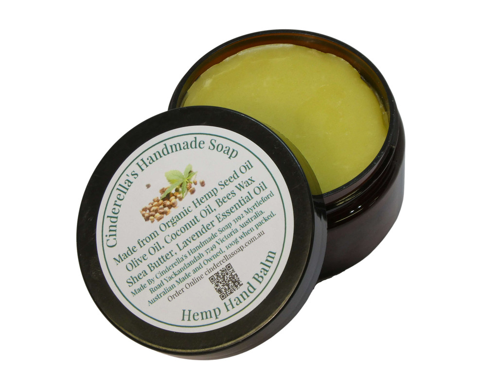 Balm Hemp Balm Hemp seed oil is rich in fatty acids which help hydrate and soothe inflamed, dry skin. Australian olive oil, coconut oil, Organic fair-trade shea butter from Ghana and local beeswax are combined to make this nourishing balm ideal to use after gardening, or whenever your hands need a little extra care.