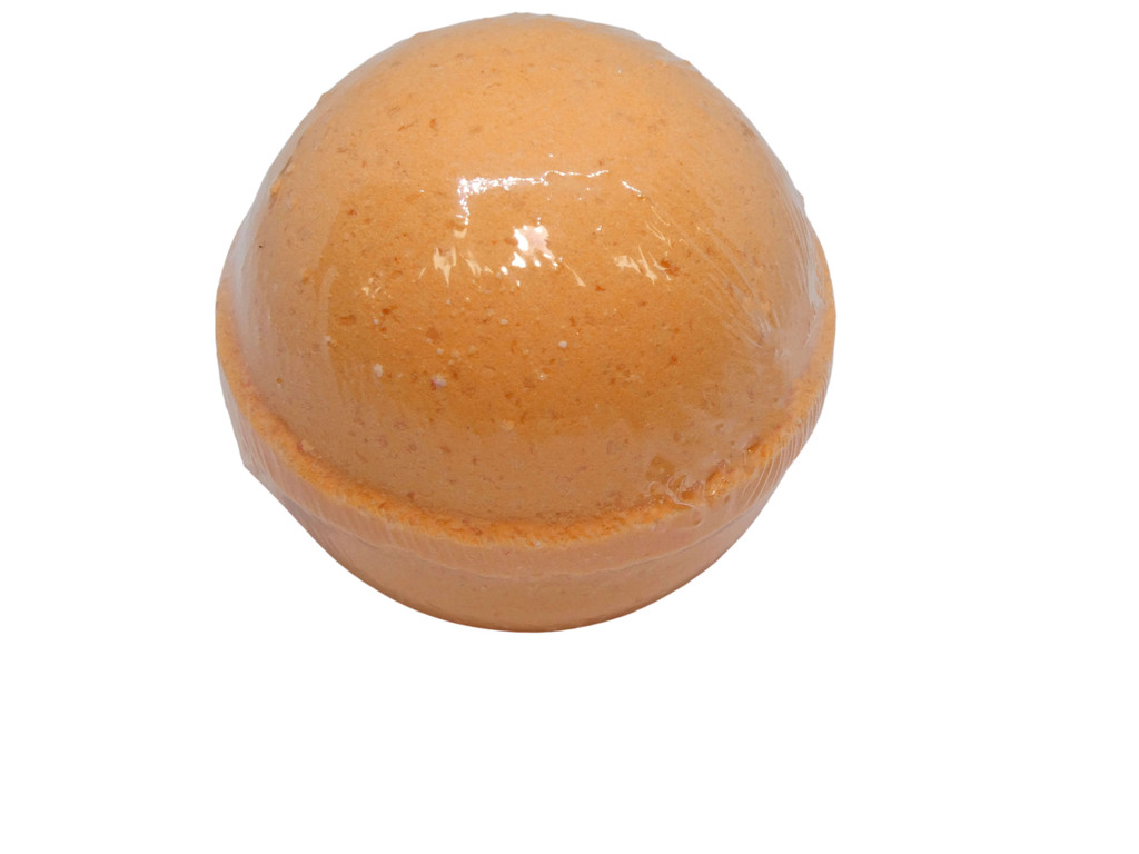 Bath Bomb Clementine (Mandarin). Designed to make bath time fun for all ages. Brightly coloured and fragranced in an assortment of fun fragrances.