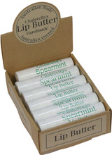 Lip Butter Spearmint 5g when packed. An all-day essential for your lips, keeping them protected and moisturised. Our Lip Butters are also fantastic to apply before you go to bed for overnight rehydration. They may also be applied before your lipstick. Check our essential range of lip butters.