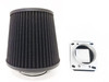 Air Intake Fitler+MAF Sensor Adapter For Mazda 323 (1986-1994) With 1.6L 1.8L  Engine Black