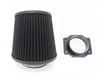 Air Intake Fitler+MAF Sensor Adapter For Nissan 300ZX (1990-1996) With 3.0L V6 Engine Black