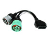 OBD2 to 6 Pin J1708 and 9 Pin J1939 Y Cable for Heavy Duty Trucks