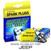 Iridium Performance Spark Plug Set for Jeep