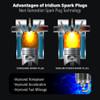 Iridium Performance Spark Plug Set for Nissan