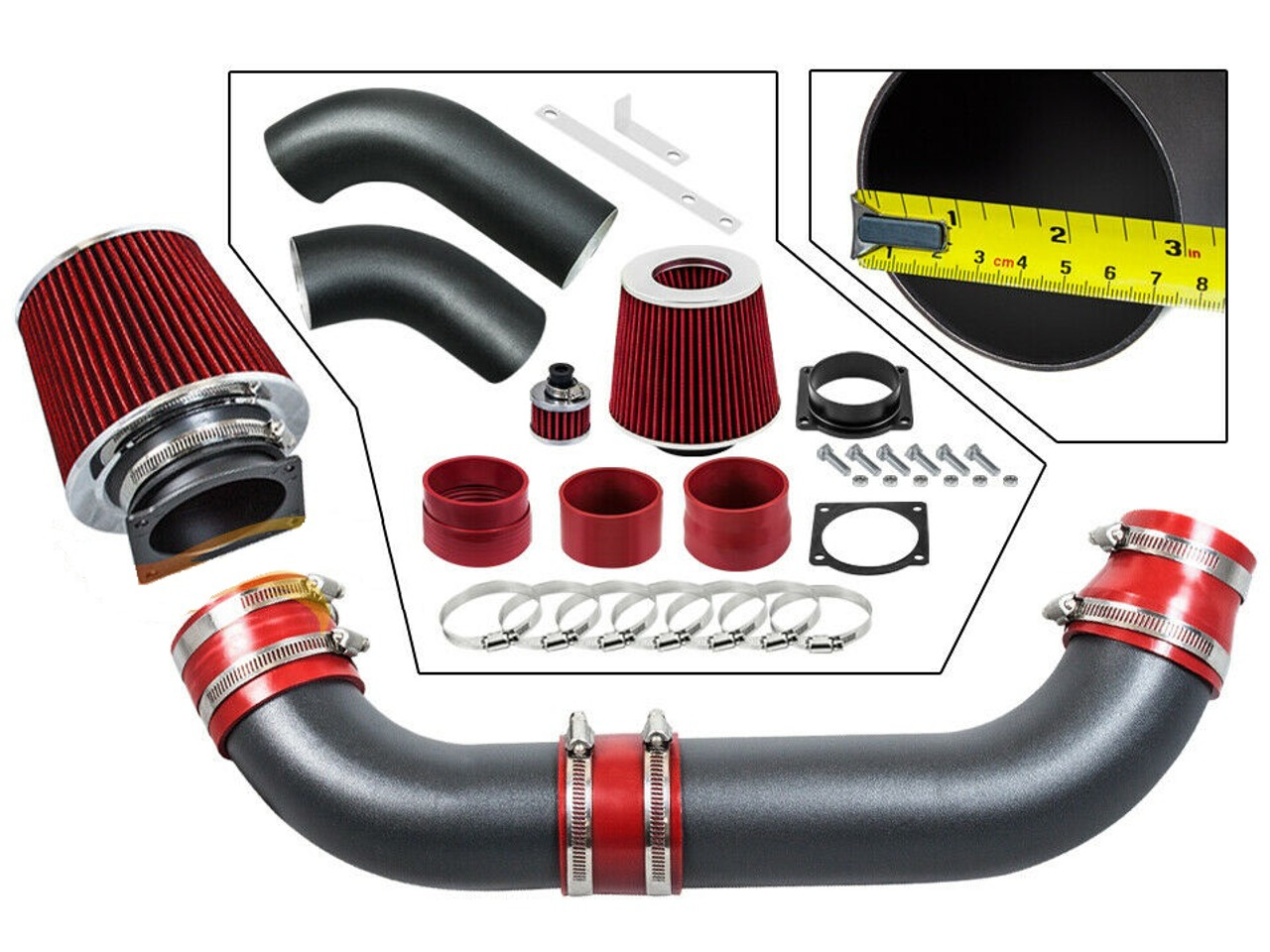 Filter Black Red For 1995-2000 Ford Explorer Ranger 4.0L V6 OHV Air Intake Kit
