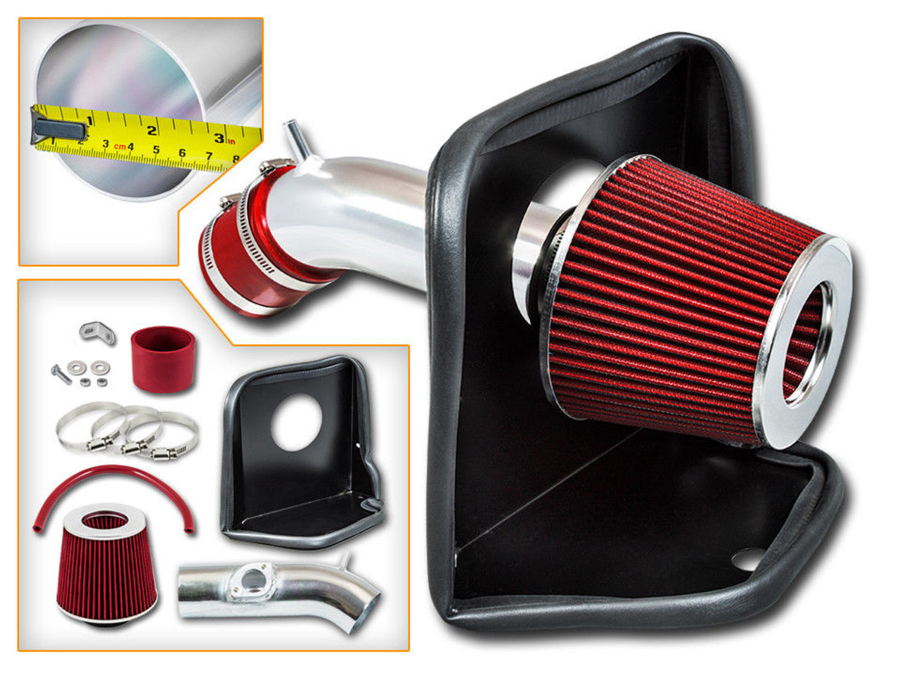 TWO 2.5  TO 2.5 COLD AIR INTAKE REDUCER CONNECTOR BLACK