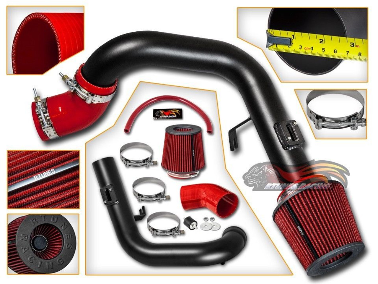 Cold Air Intake Kit for Chevrolet Cobalt SS (2005-2007) with 2 0L  Supercharged Engine