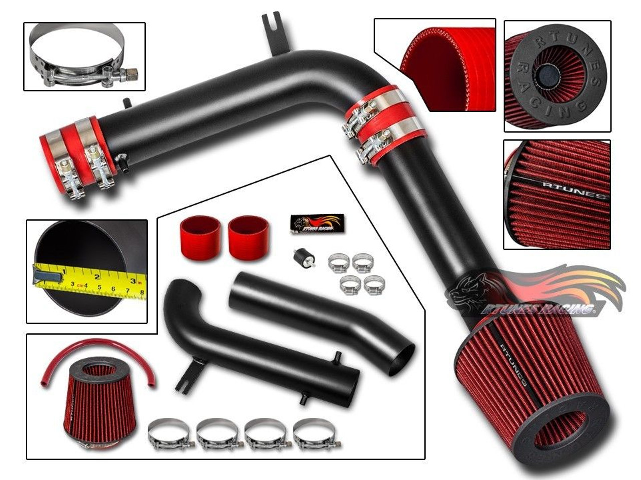 Cold Air Intake Kit For Honda Accord Lx Ex 1998 2002 With 3 0l V6