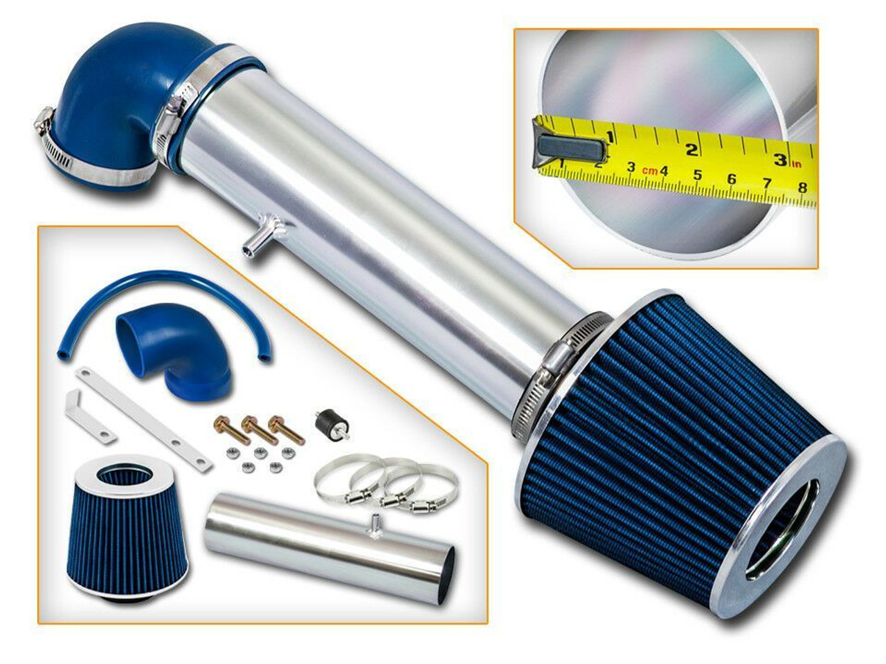 Filter Black Blue For LONG 1997-2004 Jeep Cherokee Grand 4.0L I6 Air Intake