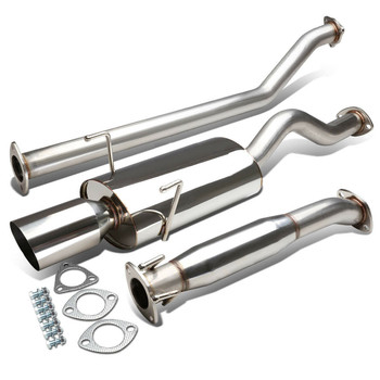 "Catback Exhaust 4"" Oval Muffler Tip for Acura Rsx Dc5 Type-S (2002-2006)"