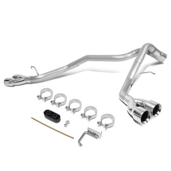 """Cat Back Exhaust Kit w/3.5""""OD Muffler Tip For Cadillac Escalade/GMC Yukon (2009-2013) with 6.2L V8 Engine"""