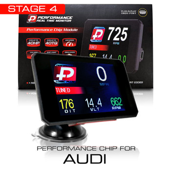 Stage 4 Performance Chip Module OBD2 +LCD Monitor for Audi 2005+