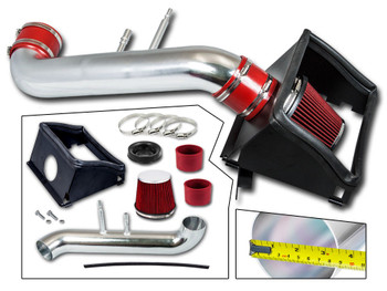 Red Cold Air Intake Kit for Ford F150 (2015-2019) with 5.0L V8 Engine
