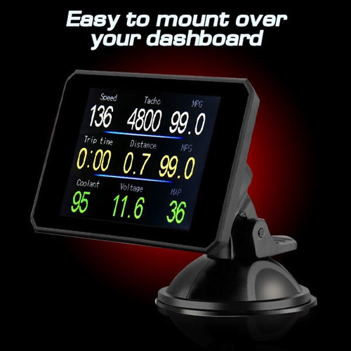 Stage 4 Performance Chip Module OBD2 +LCD Monitor for RAM 2008+