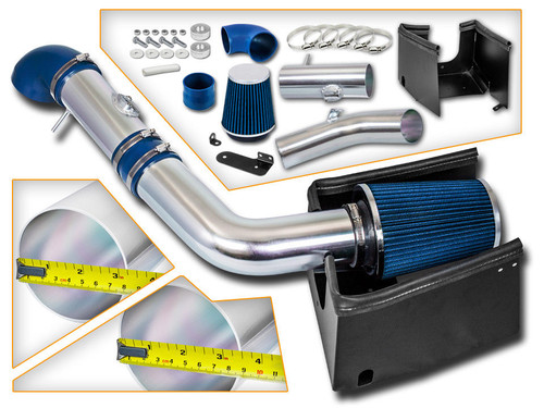 Blue Cold Air Intake Kit for Ford F150 (2005-2008) with 5.4L V8 Engine