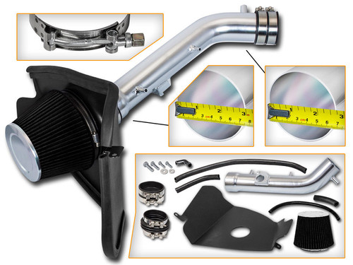 Black Cold Air Intake Kit for Toyota 4-Runner (1999-2004) with 3.4L V6 Engine