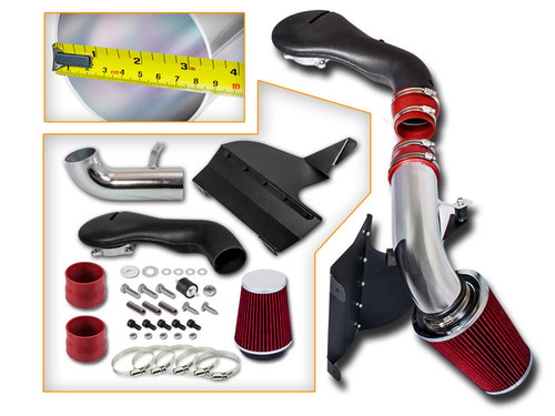 Red Cold Air Intake Kit for Chevrolet S-10 Pickup  (1996-2004) with 4.3L V6 Engine