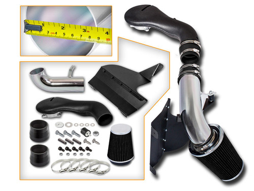 Black Cold Air Intake Kit for GMC Jimmy  (1996-2004) with 4.3L V6 Engine
