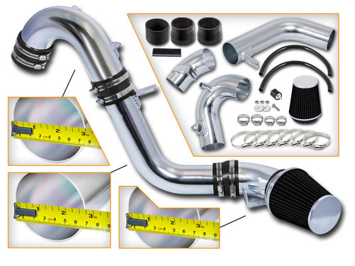 Black Cold Air Intake Kit for Honda Civic Si (2012-2015) with 2.4L 4-Cylinder Engine
