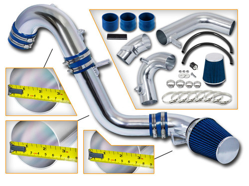 Blue Cold Air Intake Kit for Honda Civic Si (2012-2015) with 2.4L 4-Cylinder Engine