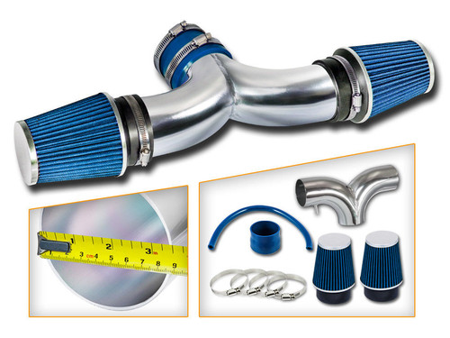 Blue Cold Air Intake Kit for Jeep Liberty (2004-2009) with 3.7L V6 Engine