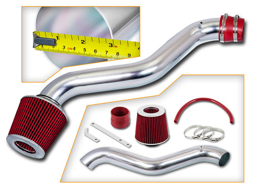 Ram Air Intake Kit for Honda Accord DX/LX/EX/VP/SE (1998-2002) with 2.3L 4-Cylinder Engine Red