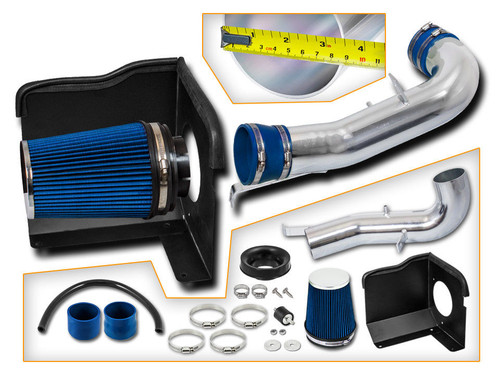 Cold Air Intake for Chevy Suburban (2007-2008) 1500 5.3L & 6.0L V8 Engine / 2500 6.0L V8 Engine (DS-BHI-CD02-BL)
