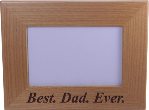 Best Dad Ever 4x6 Inch Wood Picture Frame - Great Gift for Father's Day Birthday or Christmas Gift for Dad Grandpa Papa Husband