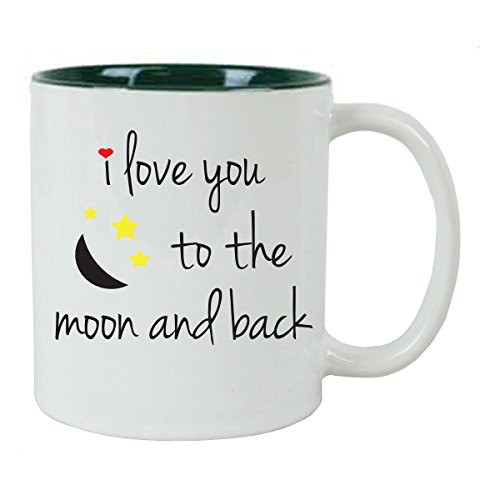 I Love You To The Moon and Back Coffee Mug with FREE Gift Box - Great Gift for Birthdays, Valentines Day, and Christmas Gift - Great Gift for Birthdays, Valentines Day, and Christmas Gift