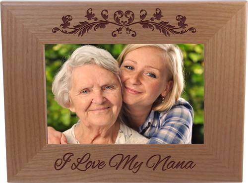 I Love My Nana 4-inch x 6-Inch Wood Picture Frame