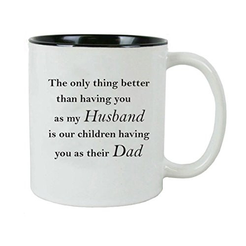 Only thing better than having you as my dad is my children having you as their grandpa Ceramic Coffee Mug with Gift Box - Great for Father's Day, Birthday, or Christmas Gift for Dad, Grandpa