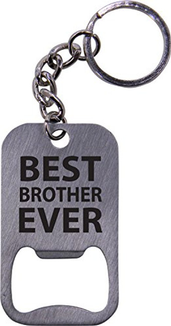Best Brother Ever Bottle Opener Key Chain - Great Gift for Birthday, or Christmas Gift for Brother, Brothers