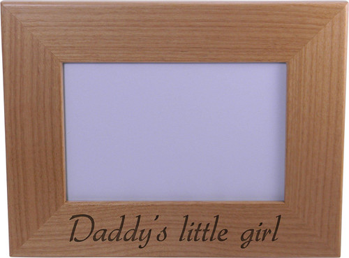Daddy's Little Girl Wood Picture Frame - Holds 4x6 Inch Photo - Great Gift for Father's Day Birthday or Christmas Gift for Dad Grandpa Papa Husband