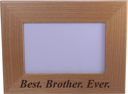 Best Brother Ever 4x6 Inch Wood Picture Frame - Great Gift for Birthday, or Christmas Gift for Brother, Brothers