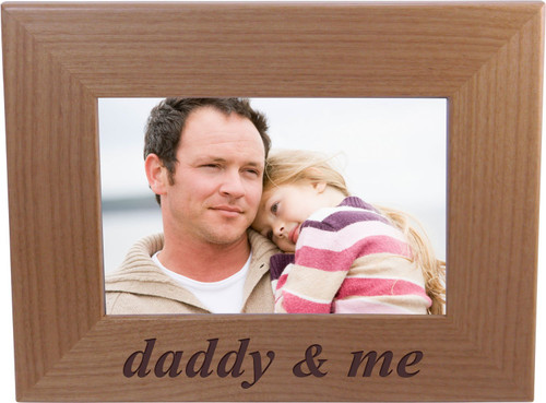 daddy and me - Wood Picture Frame Holds 4x6 Inch Photo - Great Gift for Father's Day Birthday or Christmas Gift for Dad Grandpa Papa Husband
