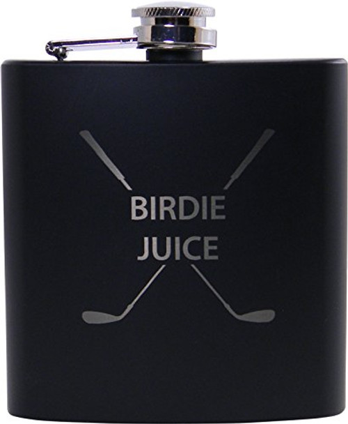 Golf Birdie Juice Flask, Funnel and Gift Box - Great Chirstmas, Birthday, Valentines Gift for Golfers
