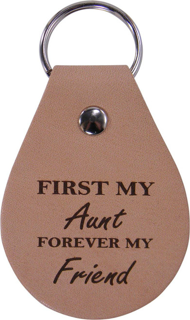 First My Aunt Forever My Friend - Leather Key Chain